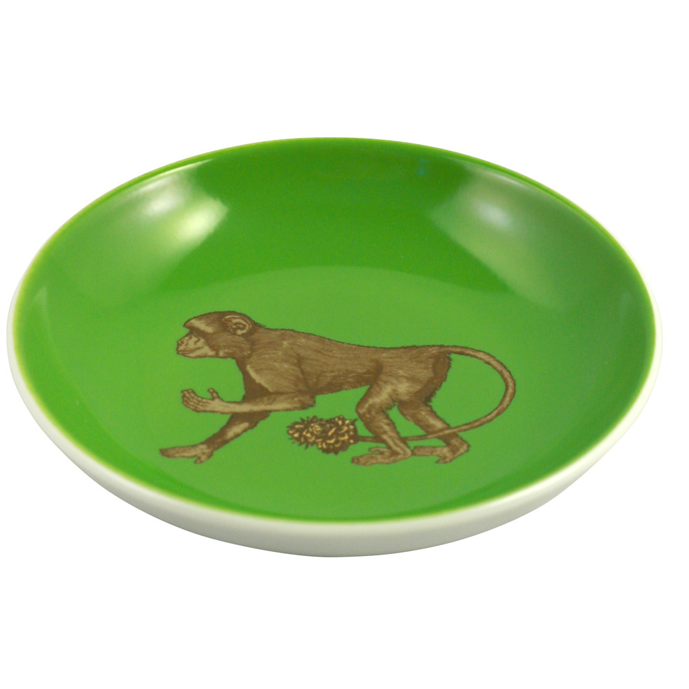 Avenida Home Monkey Mini Plate Green