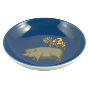 Pig Mini Plate Blue