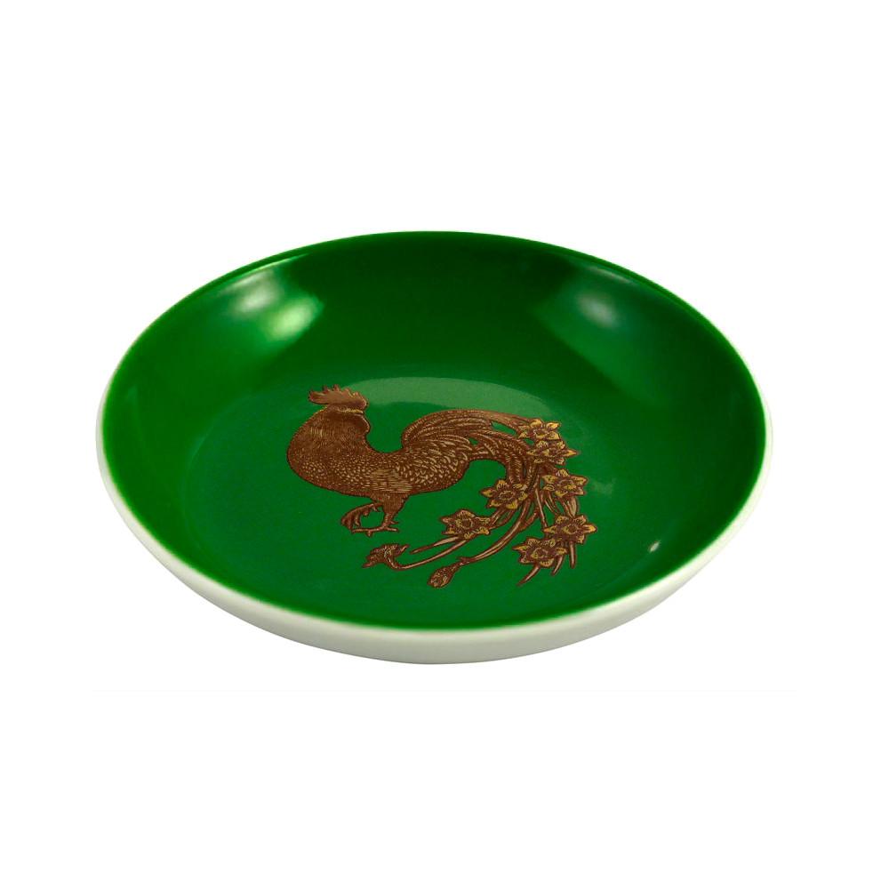 Avenida Home Rooster Mini Plate Dark Green
