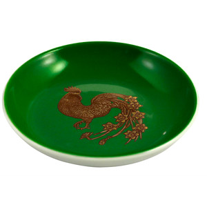 Rooster Mini Plate Dark Green