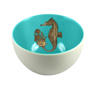 Seahorse Bowl Light Blue