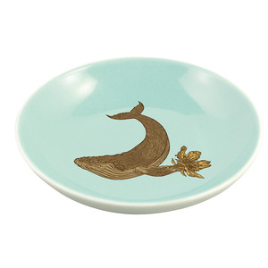 Whale Mini Plate Baby Blue