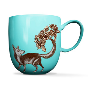 Fox Mug Sea Green