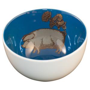 Pig Bowl Blue