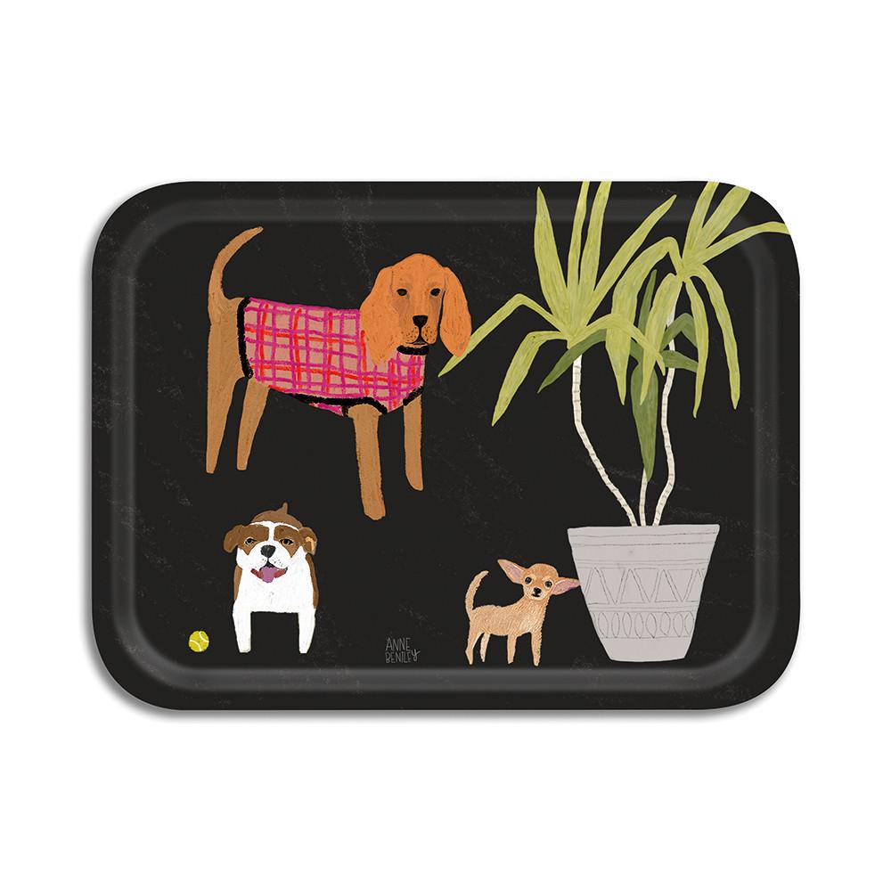 Avenida Home Dogs Small Tray Black