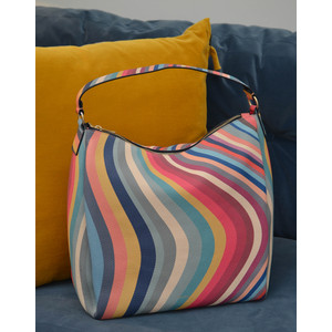 Zip Swirl Hobo Bag Multicolour