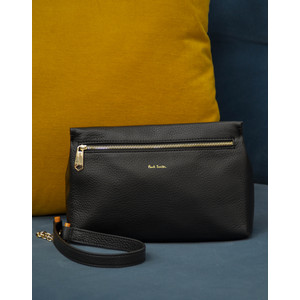 Zip Pouch T Bar Bag Black