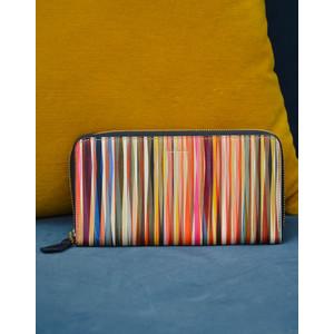Crossover Stripe Wallet Large Zip Multicolour