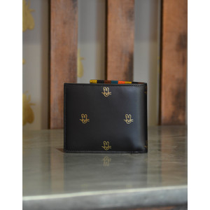 Paul Smith Accessories Bunnies Bill Fold Wallet Gold Bunnies Black/Gold
