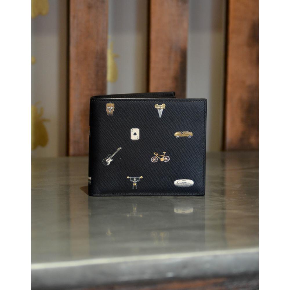 Paul Smith Accessories Cufflink Print Billfold Black