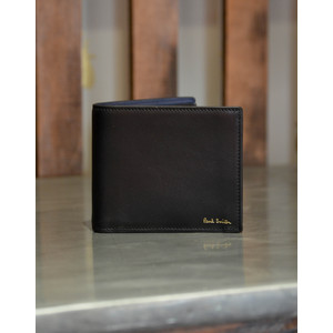 Coin Pocket Billfold Black/Blue