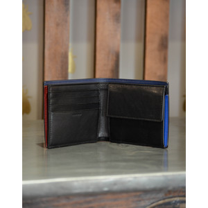 Paul Smith Accessories Coin Pocket Billfold Black/Blue