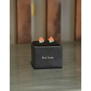 Paul Smith Accessories Strawberry Skull Cufflinks Red