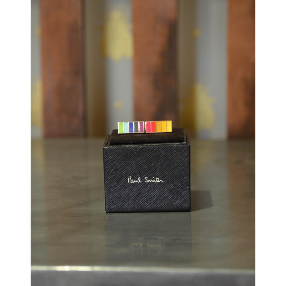 Paul Smith Accessories Stripe Cufflinks Multi