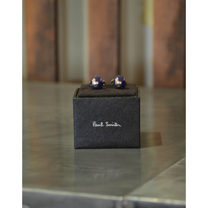 Paul Smith Accessories Globe Cufflinks Navy/Silver