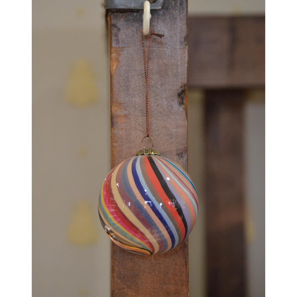 Paul Smith Accessories Swirl/Stripe Bauble Multi