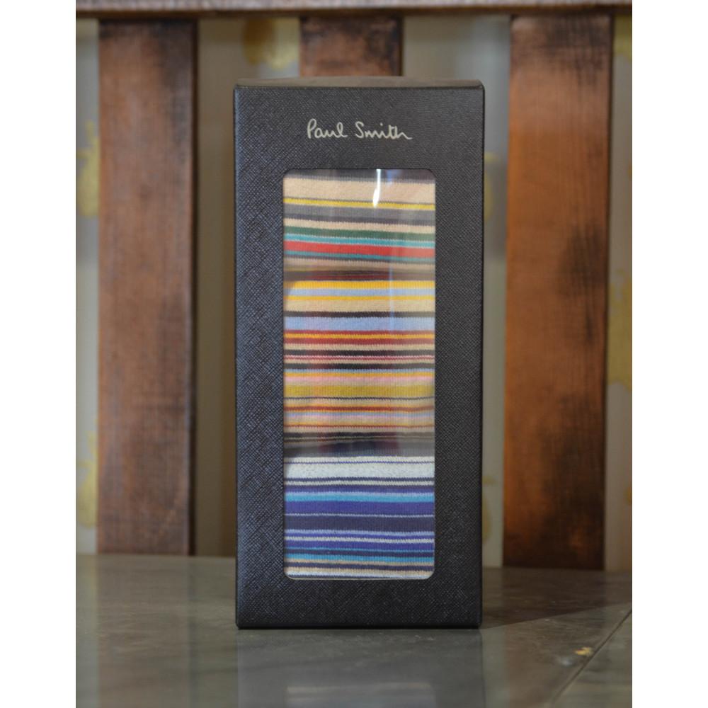Paul Smith Accessories Multi Stripe 3Pk Sock Multi