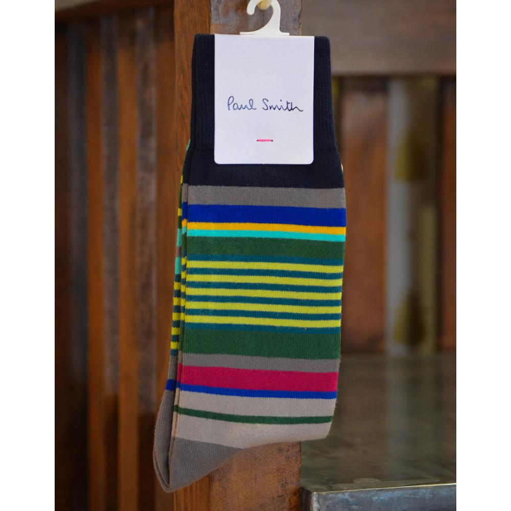 Paul Smith Accessories Grande Stripe Sock Navy/Stripe