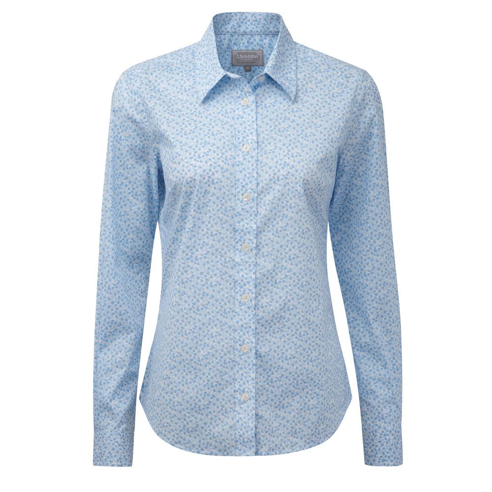 Schoffel Country Suffolk Shirt Blue Floral