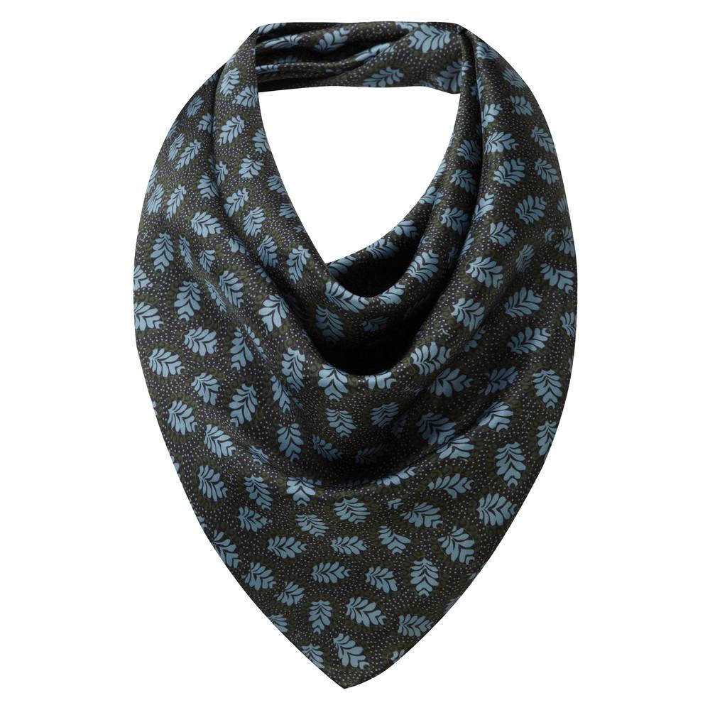 Schoffel Country Silk Scarf Dark Olive/Blue