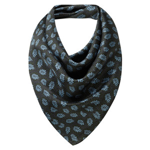 Silk Scarf Dark Olive/Blue