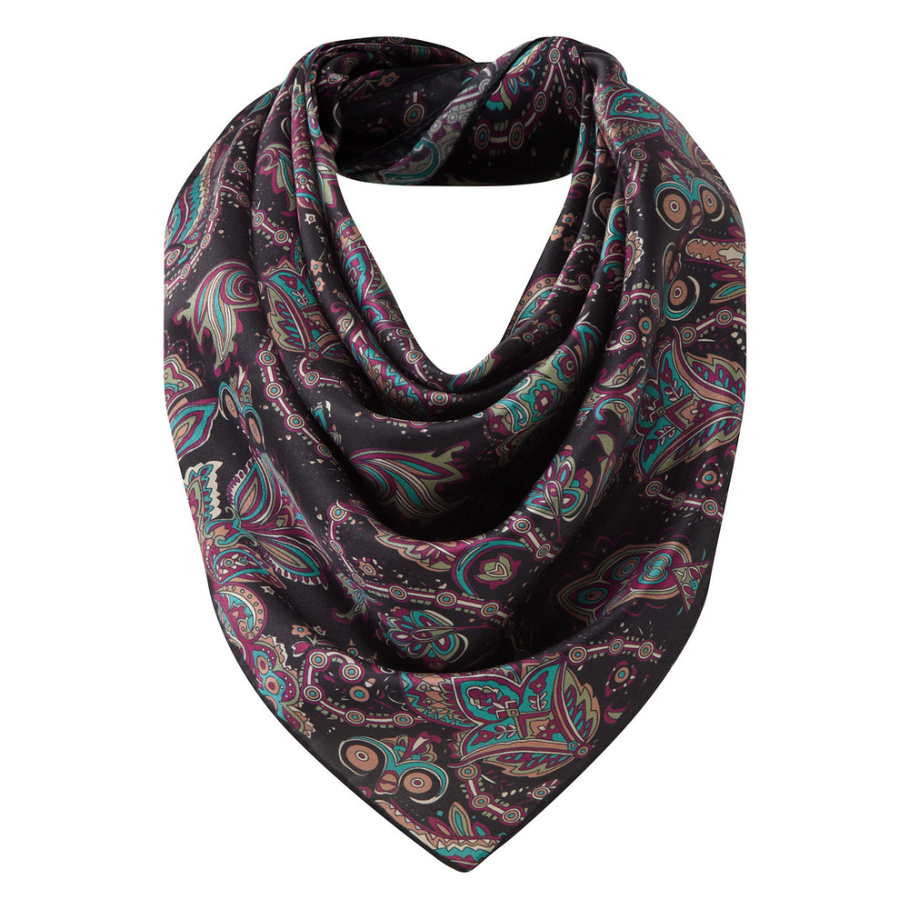 Schoffel Country Silk Scarf Peacock