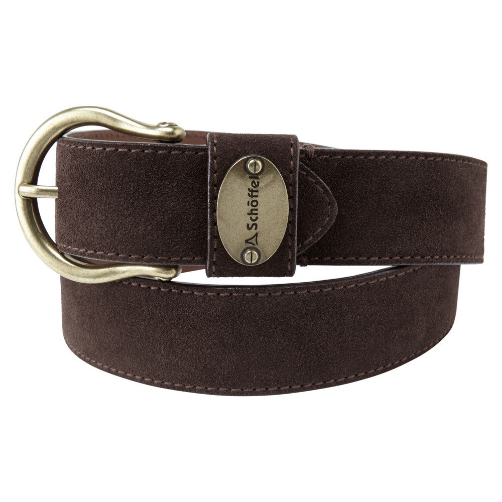 Schoffel Country Ladies Suede Belt Dark Brown