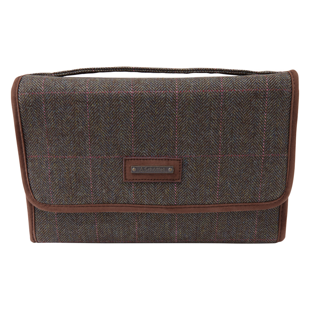 Schoffel Country Fold Up Toiletry Bag Cavell Tweed