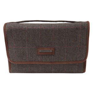 Fold Up Toiletry Bag Cavell Tweed