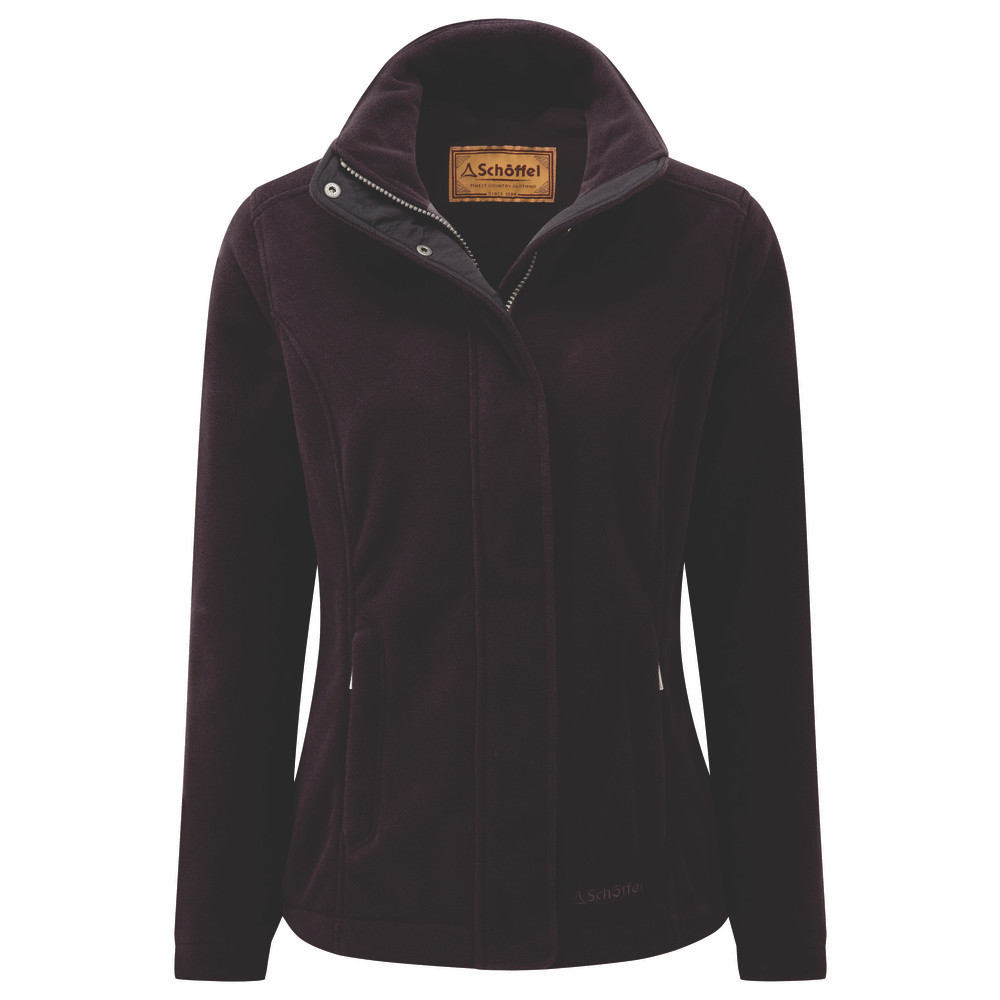 Schoffel Country Melton Fleece Aubergine