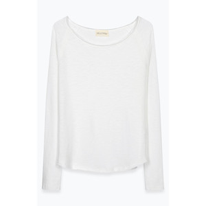 Sonoma Raw Edge Cotton Top White