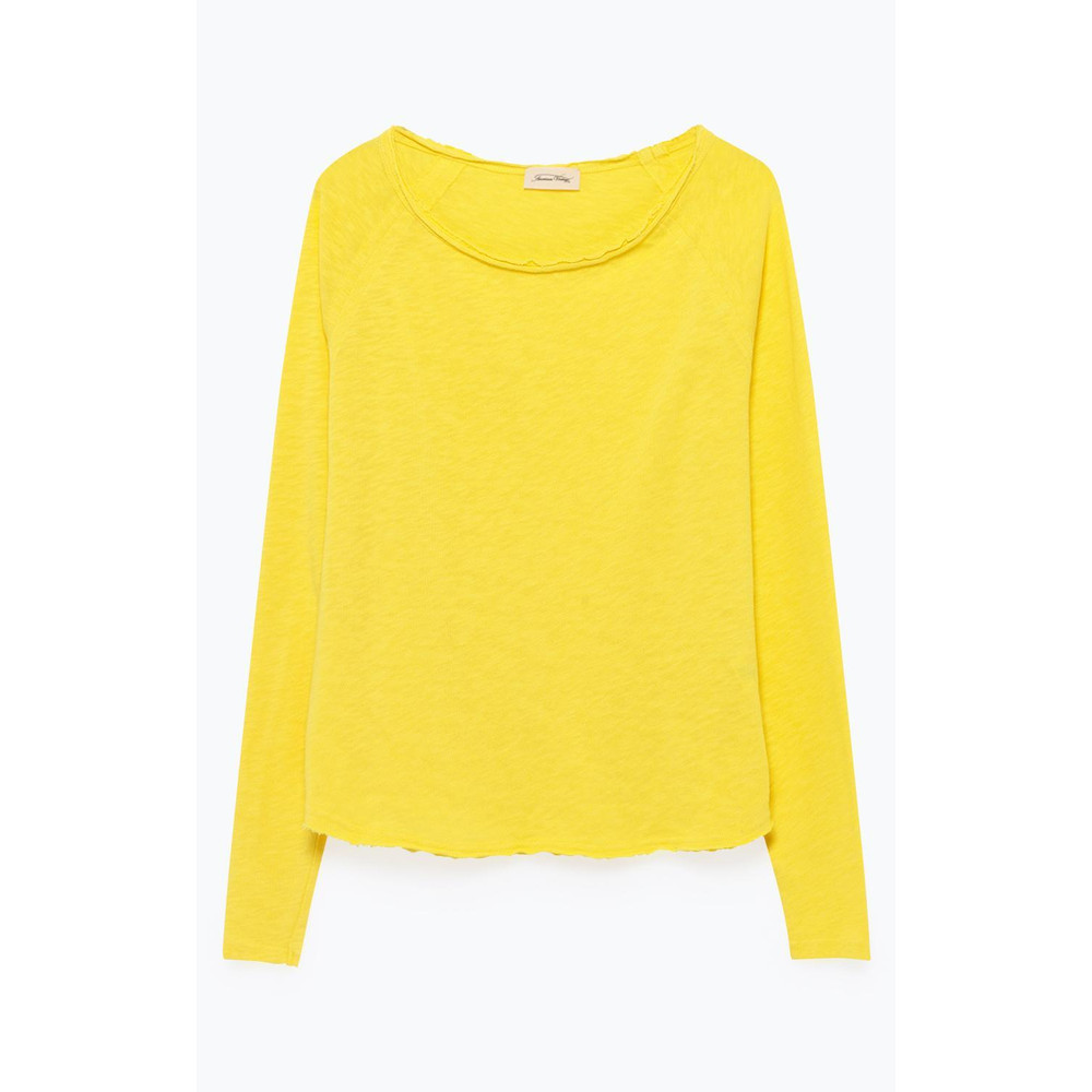 American Vintage Sonoma Raw Edge Cotton Top Canary