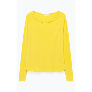 Sonoma Raw Edge Cotton Top Canary