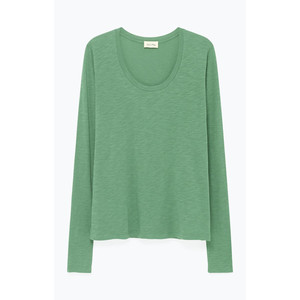 Jacksonville L/S Scoop Nck Top Mojito