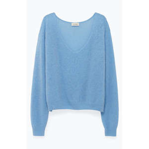 Ugoball L/S V/Neck Knit Celeste