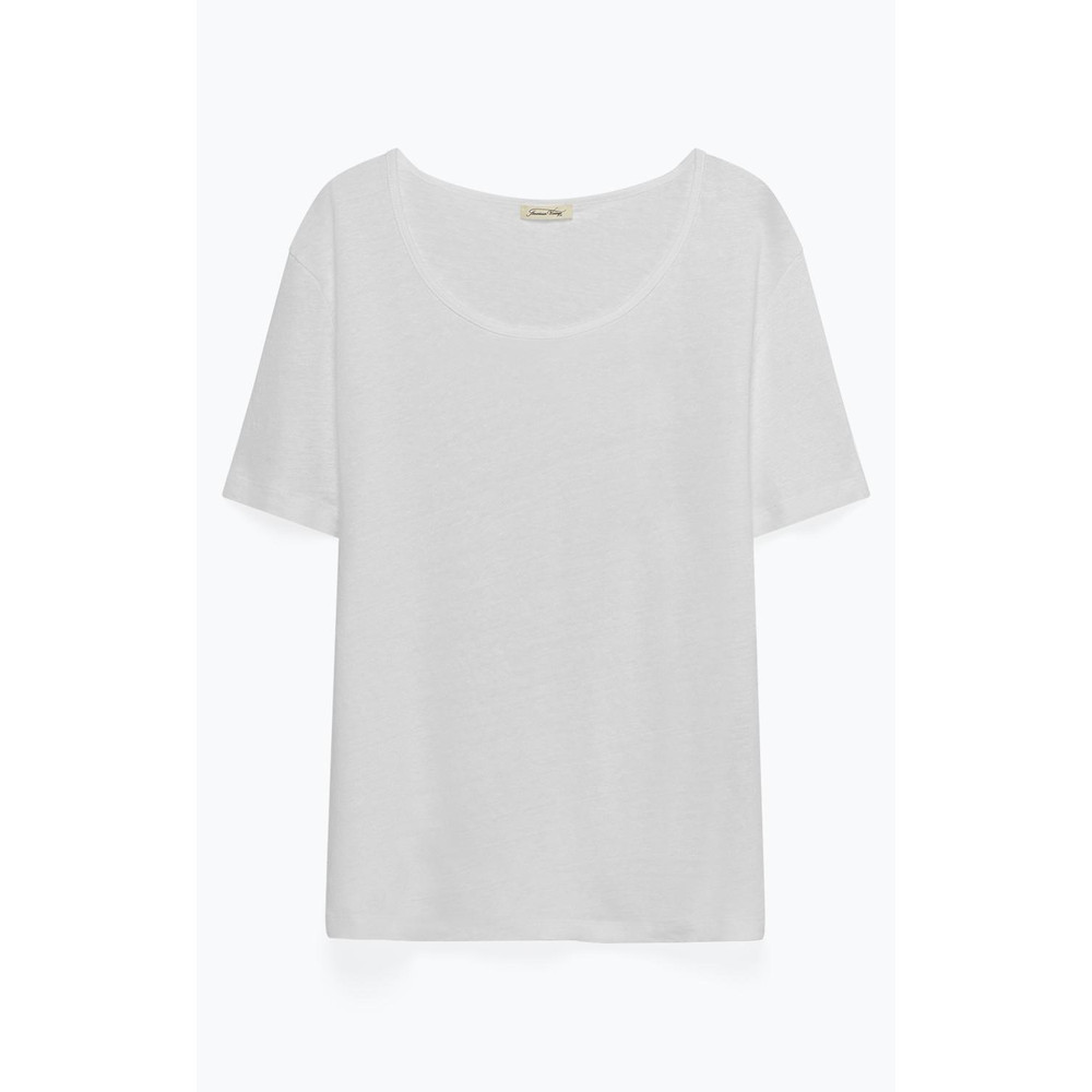 American Vintage Lolosister S/S Round Nck Top White