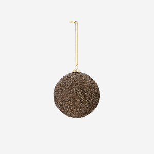 Gold String Glitter Ball Black/Gold