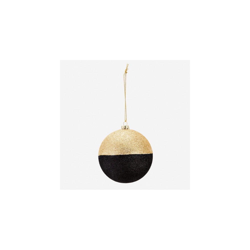 Madam Stoltz Gold String Glitter Ball Gold/Black