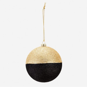 Gold String Glitter Ball Gold/Black