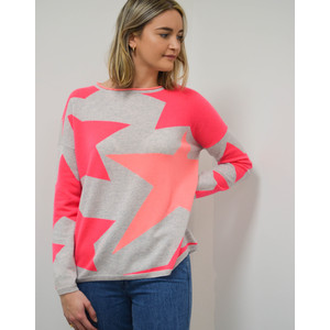 Cocoa Cashmere Star Camouflage Jumper Cloud/Bowie/Mango
