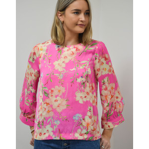 Essentiel Antwerp Saad Floral Boxy Top in Pink