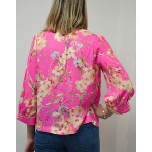 Essentiel Antwerp Saad Floral Boxy Top Pink