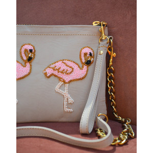 Flamingo Chain Bag Leather Coffee