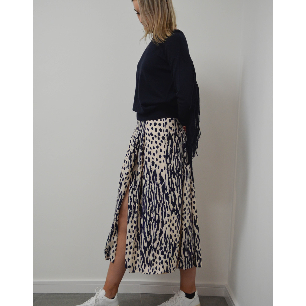 Essentiel Antwerp Sturdy Long Wrap Skirt Off White
