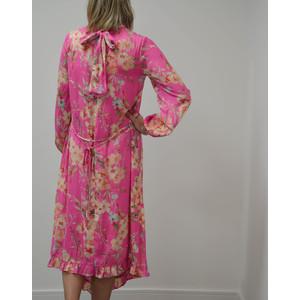Essentiel Antwerp Sza L/S Floral Midi Dress Pink