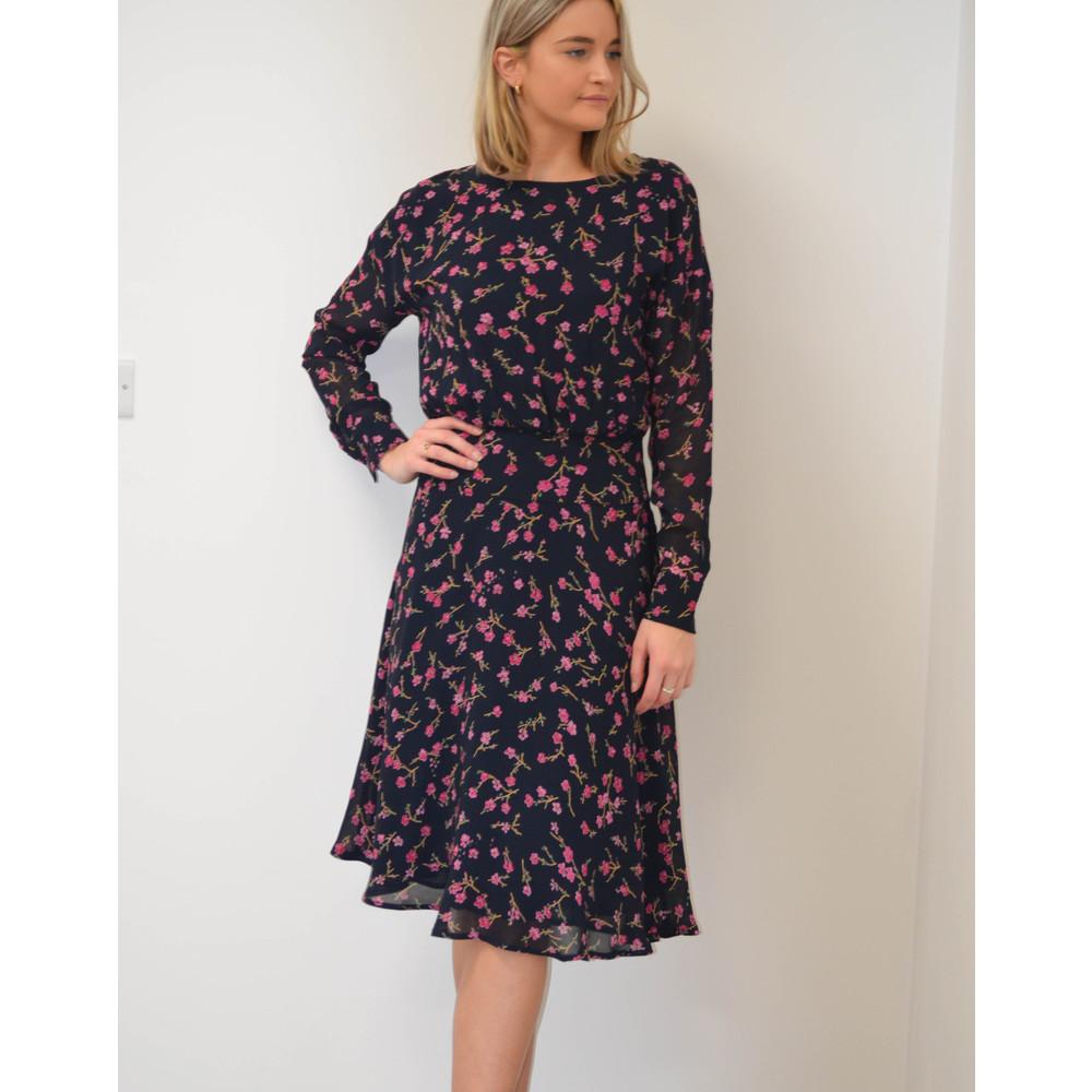 Essentiel Antwerp Swaffel Long Sleeve Floral Dress Blue/Multi