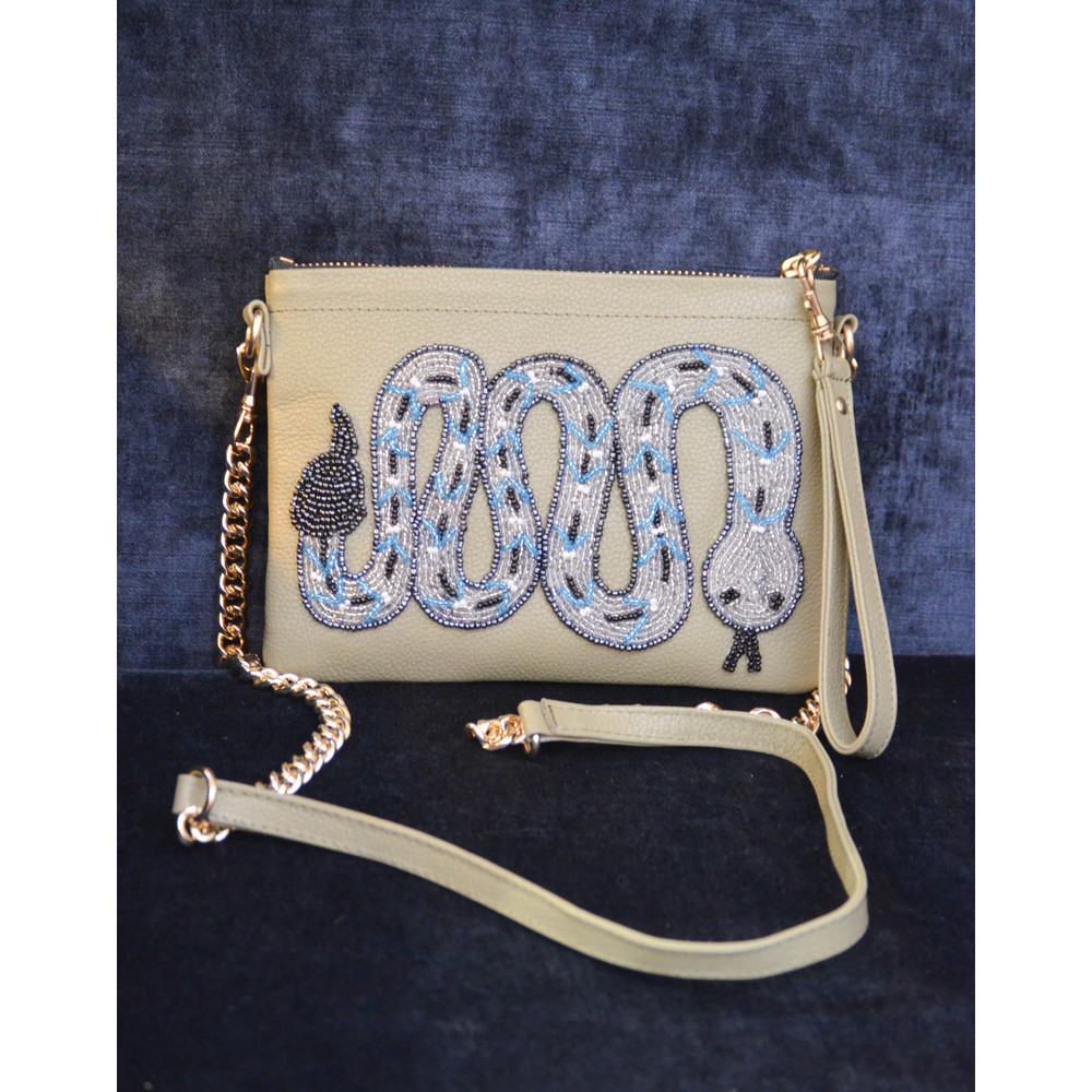 Tea & Tequila Rattle Snake Crossbody Olive