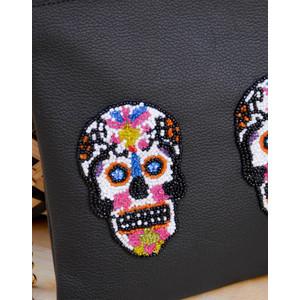 Tea & Tequila 3 Sugar Skull Crossbody Black
