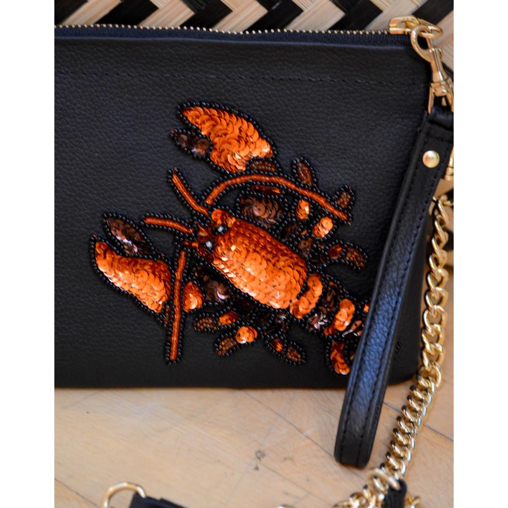 Tea & Tequila Lobster Crossbody Black