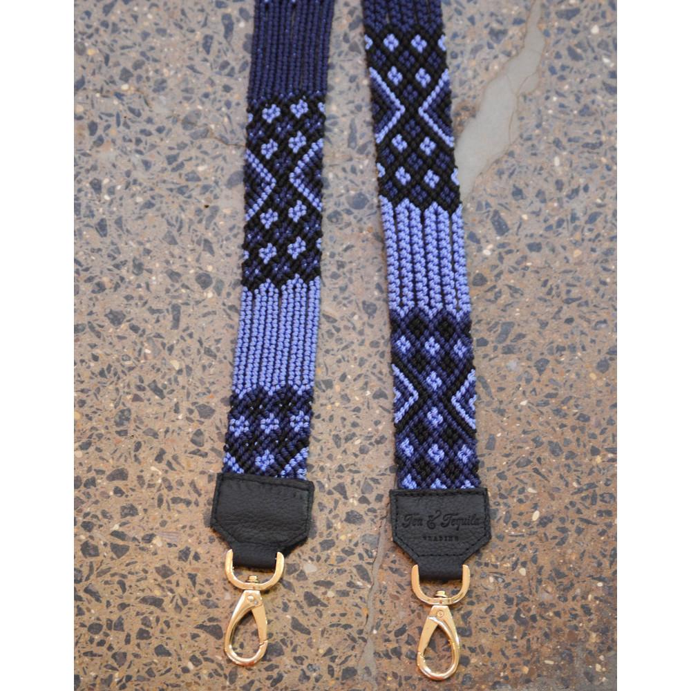 Tea & Tequila Woven Strap Blue/Black